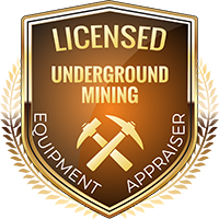 Licensed Mining Underground Equipment Appraiser Shield