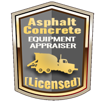 Licensed Asphalt & Concrete Equipment Appraiser Specialty Shield