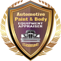 Licensed Automotive Paint & Body Equipment Appraiser Specialty Shield