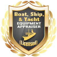 Licensed Boat Ship Yacht Equipment Appraiser Specialty Shield