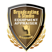 Licensed Broadcasting & Studio Equipment Appraiser Specialty Shield