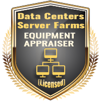 Licensed Data Center & Server Farms Equipment Appraiser Specialty Shield