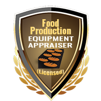 Licensed Food Production Equipment Appraiser Specialty Shield