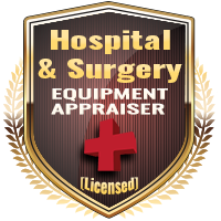Licensed Hospital & Surgery Equipment Appraiser Specialty Shield