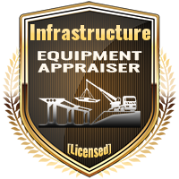 Licensed Infrastructure Equipment Appraiser Specialty Shield