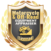 Licensed Motorcycle & Offroad Equipment Appraiser Specialty Shield