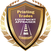 Licensed Printing Trades Equipment Appraiser Specialty Shield
