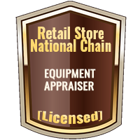 Licensed Retail Store & National Chain Equipment Appraiser Specialty Shield