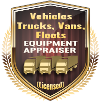 Licensed Vehicles Trucks Vans Fleets Equipment Appraiser Specialty Shield