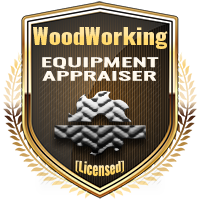 Licensed WoodWorking Equipment Appraiser Specialty Shield